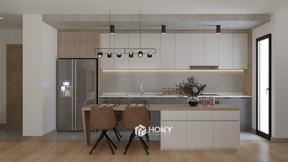 Căn bếp dự án Hồng Hà Eco City 110m2